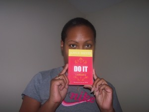 """Me holding the book """"Do It Afraid!"""" by Joyce Meyer"""
