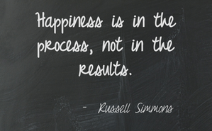 Find happiness in the process