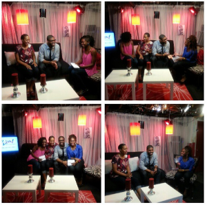 On the set of Fusion Teen Talk Show