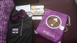 Hot Chocolate 15K race packet
