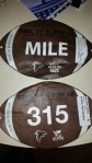 My daughter and I wore these cute football race bibs in October