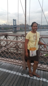 In front of the Manhattan Bridge