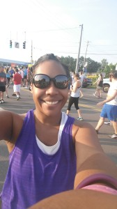 Me, bright and early at the starting point of the race (Culver and Dwyer)