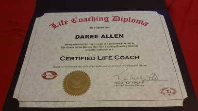 I earned my certification from the Georgia Certified Life Coach Academy.